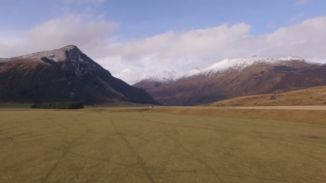 Aerial view of farmland in Glenorchy