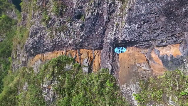vidéos et rushes de aerial view of fatu hiva - dom tom