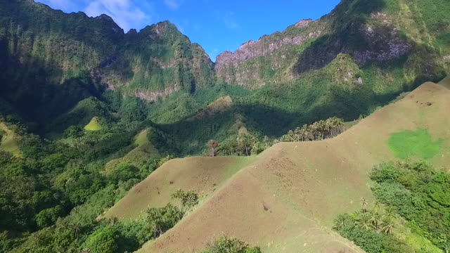 aerial view of fatu hiva - french polynesia stock videos & royalty-free footage