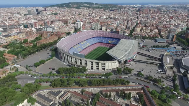 Aerial view of FC Barcelona Camp Nou stadium