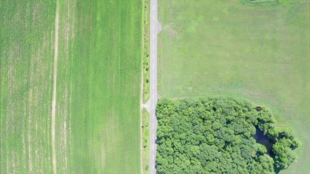 aerial view of fields - thoroughfare stock videos & royalty-free footage