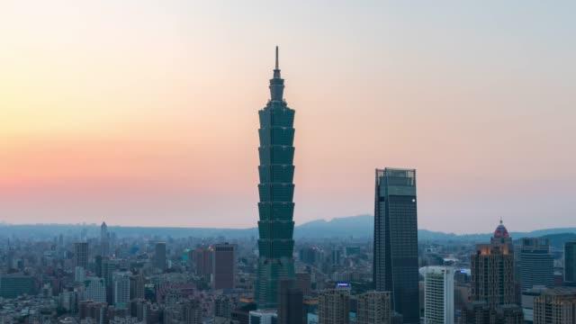 台北市の金融街の空中風景 - 台北市点の映像素材/bロール