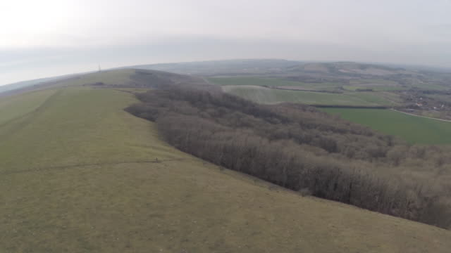 Aerial view of Firle beacon