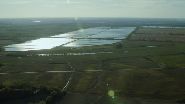 Aerial View Of Fish Hatchery In Mississippi