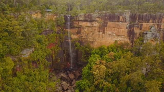 4k aerial view of fitzroy falls, new south wales, australia - waterfall stock videos & royalty-free footage