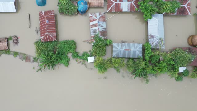 aerial view of flood - report produced segment stock videos & royalty-free footage