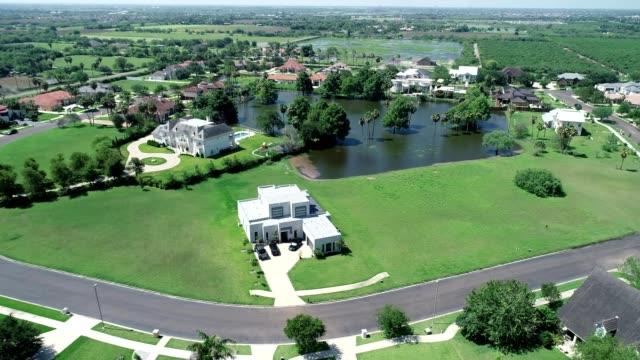 Aerial view of floodingin Hidalgo County Edinburg Texas