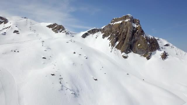 Vista aérea de Suiza del Resort de esquí de Flumserberg