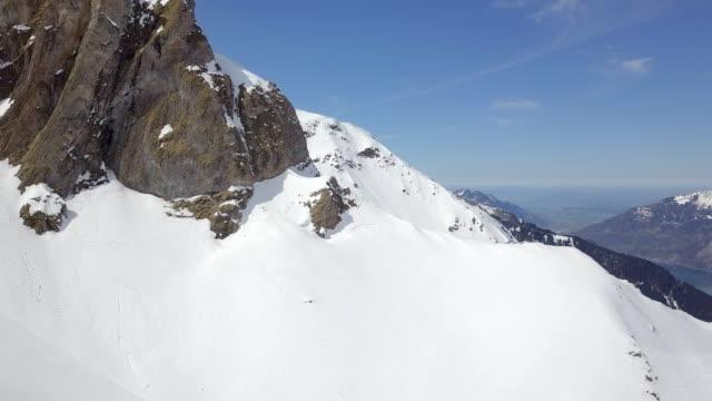 Luftaufnahme von Flumserberg Ski Resort Schweiz