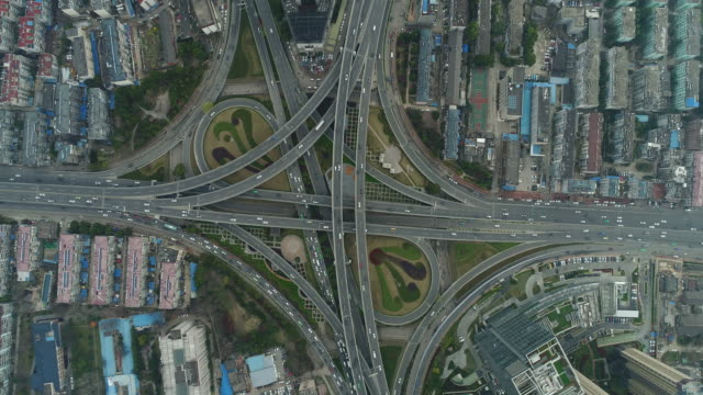 Aerial View of Flyover in China.