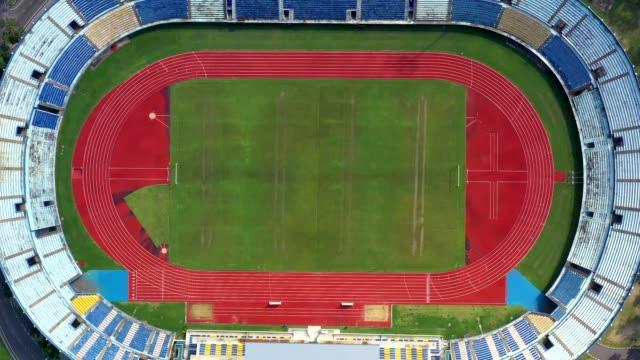 サッカー スタジアムの空撮 - 球技場点の映像素材/bロール
