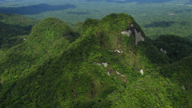 vidéos et rushes de aerial view of forested mountain ridge, colombia - colombie