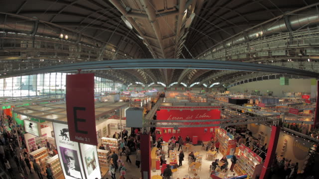 aerial view of frankfurt book fair - trade show stock videos & royalty-free footage