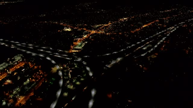aerial view of freeway - pasadena california stock videos & royalty-free footage
