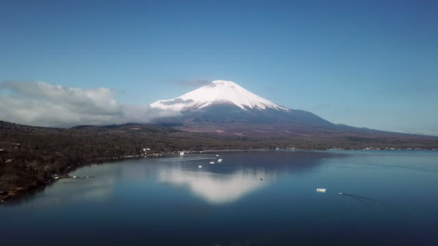 aerial view of fuji mountain - south korea stock videos and b-roll footage