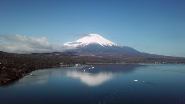 aerial view of fuji mountain - south korea stock videos & royalty-free footage