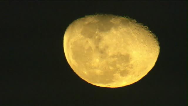 aerial view of full moon. - rymd och astronomi bildbanksvideor och videomaterial från bakom kulisserna