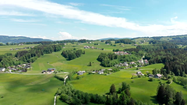 aerial view of fuschlsee lake in austria - salzkammergut stock videos and b-roll footage