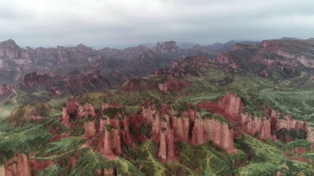 aerial view of gansu - named wilderness area stock videos & royalty-free footage