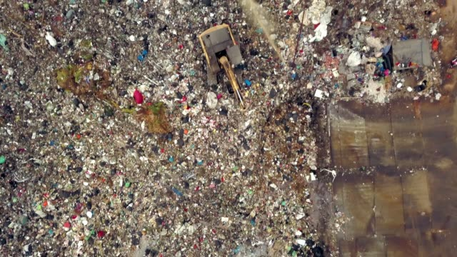 Aerial view of garbage hill