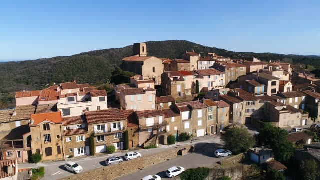 aerial view of gassin - var stock videos & royalty-free footage