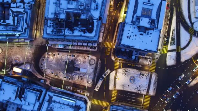Luftaufnahme des Genfer Zentrum nach Schnee im winter