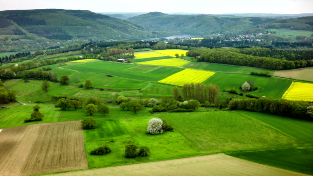 Aerial view of german countryside