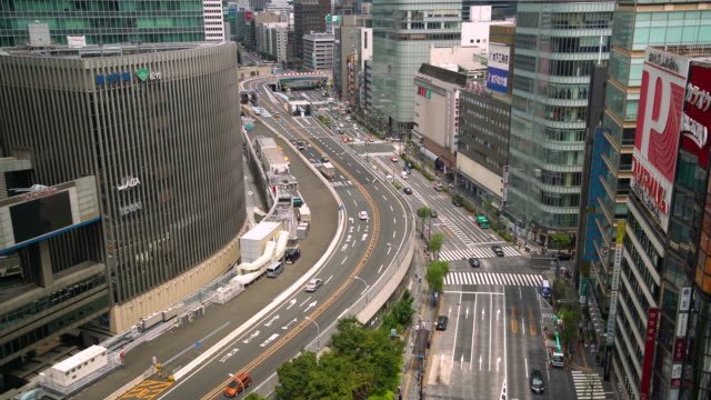 aerial view of ginza - ginza stock videos & royalty-free footage