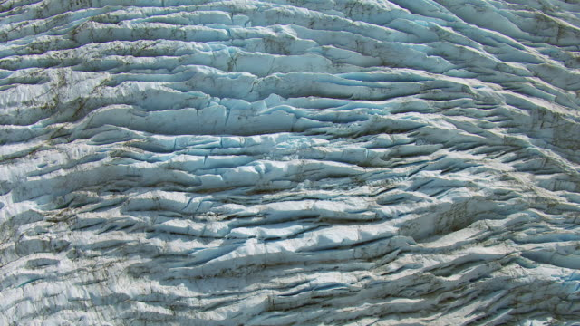 Aerial View Of Glacial Crevasses