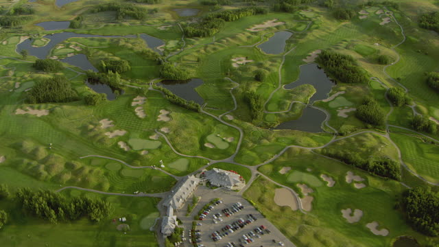 Aerial View Of Golf Course In Calgary