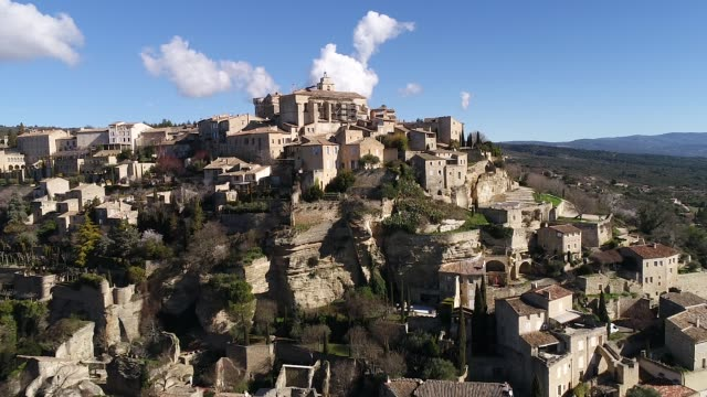 Aerial view of Gordes