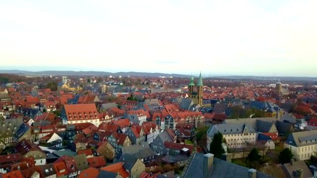 luftaufnahme von goslar - deutschland - hd format stock-videos und b-roll-filmmaterial