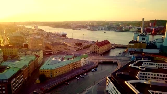 aerial view of gothenburg - sweden - swedish culture stock videos & royalty-free footage