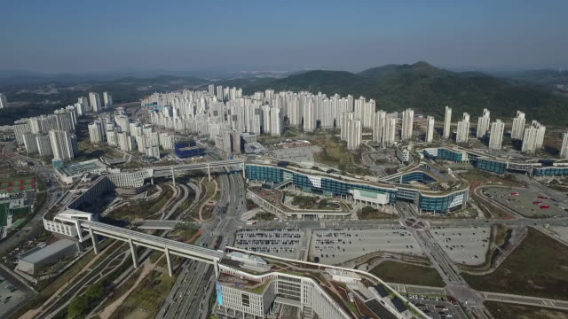 Aerial View of Government Complex Seoul in Sejong City