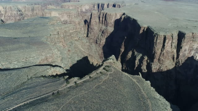 aerial view of grand canyon - canyon stock videos & royalty-free footage