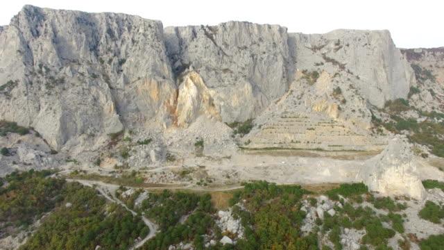 Aerial view of granite quarry
