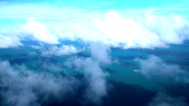 aerial view of great barrier reef queensland australia - south pacific ocean stock videos and b-roll footage