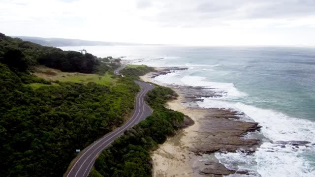 Aerial View of Great Ocean Road