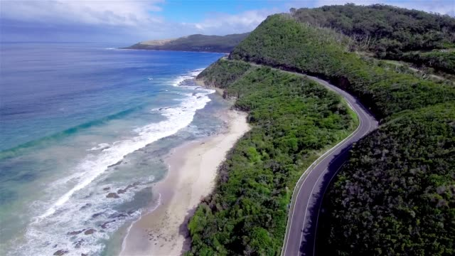 aerial view of great ocean road - great ocean road stock videos & royalty-free footage