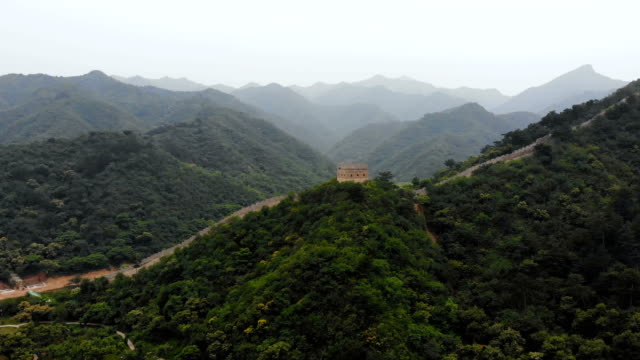Aerial view of Great Wall,Beijing,China