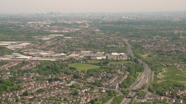 aerial view of greater london, uk. 4k - rifle stock videos & royalty-free footage