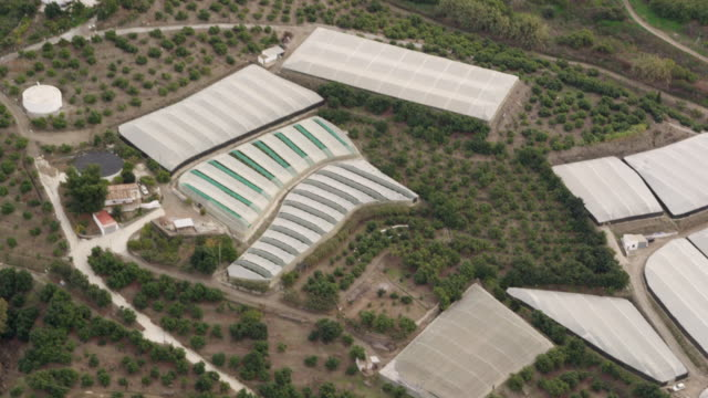 aerial view of greenhouses - 2k resolution stock videos and b-roll footage