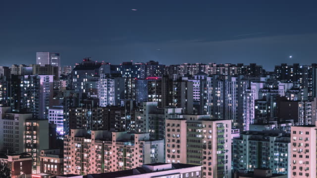 グリッドのアパートの t/l td 空中ビュー/北京、中国 - 不在点の映像素材/bロール