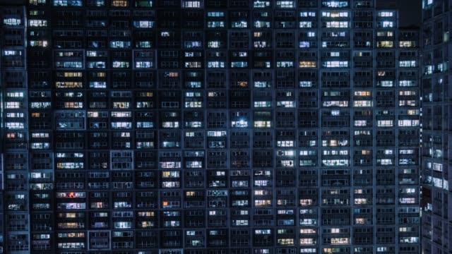 グリッドアパートメントの t/l ha パン空中ビュー/北京, 中国 - 言語点の映像素材/bロール