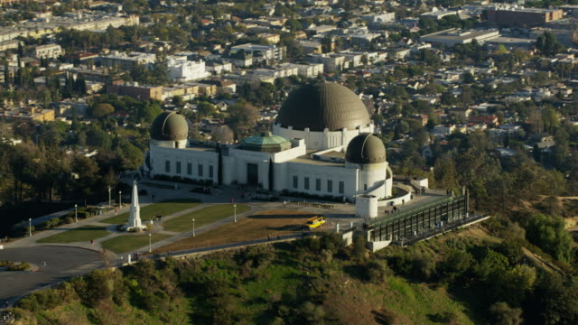 Aerial view of Griffith Park Observatory Los Angeles