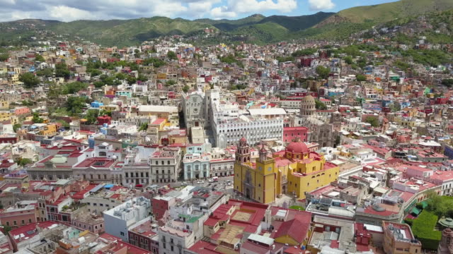 Aerial view of Guanajuato City in Mexico