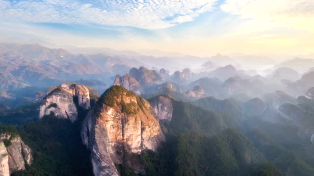 aerial view of guangxi - time lapse - guilin stock videos & royalty-free footage