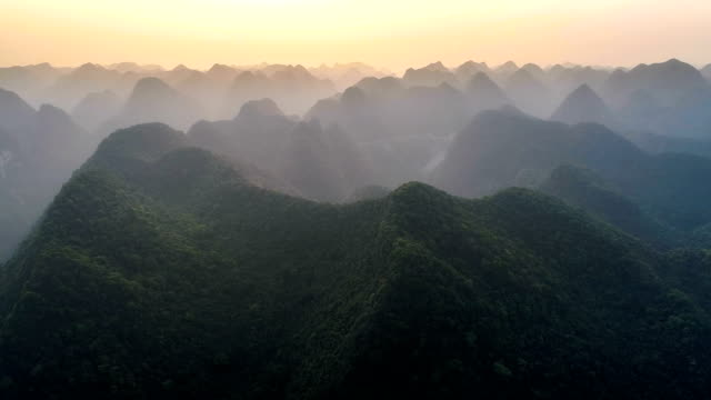 aerial view of guangxi - tropical rainforest stock videos & royalty-free footage