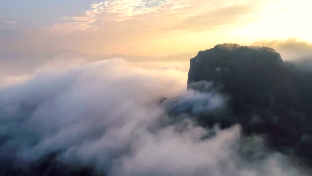 aerial view of guangxi - karst formation stock videos & royalty-free footage