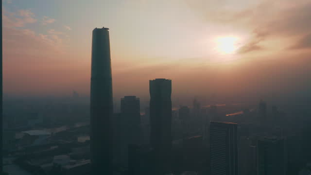 aerial view of guangzhou cbd - liyao xie stock videos & royalty-free footage